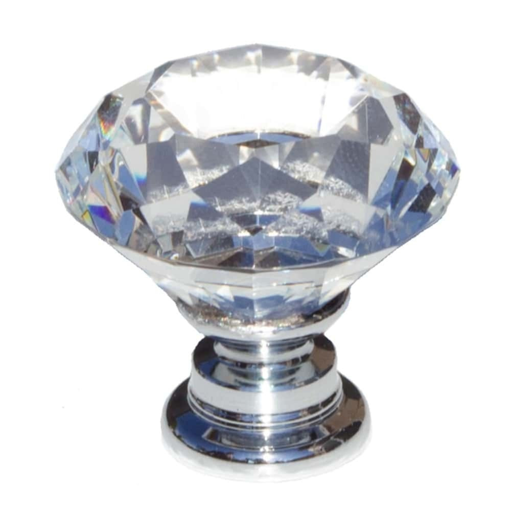 1-1/8 Inch Diamond Crystal Cabinet Knob - 9054-CR-30