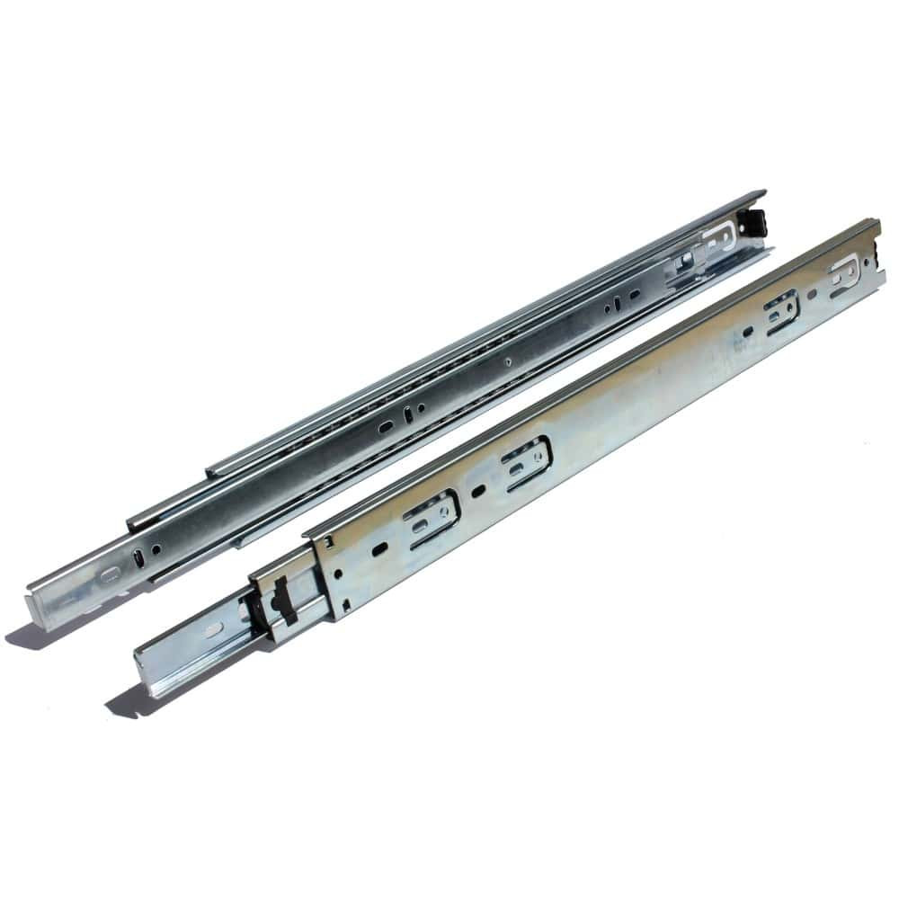 24 Inch Side Mount 100 lb. 1 Inch Over-Travel Drawer Slide - 2470 (1 Pair)