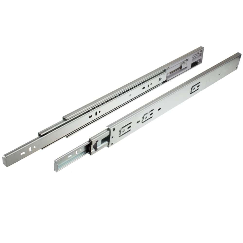 24 Inch Side Mount Hydraulic Soft Close 100 lb. Full Extension Drawer Slide - 2475 (1 Pair)