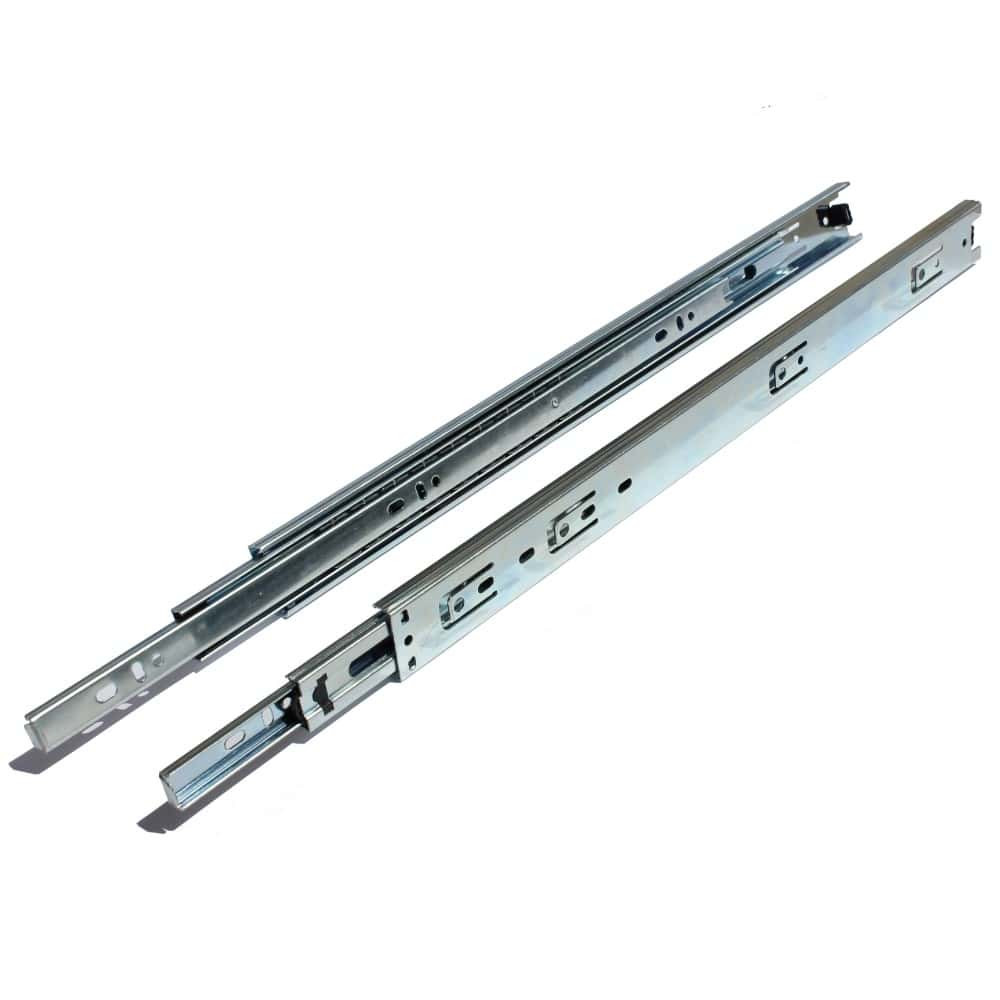 20 Inch Side Mount 70 lb. 35mm Full Extension 1 Inch Over Travel Drawer Slide - 2035 (1 Pair)