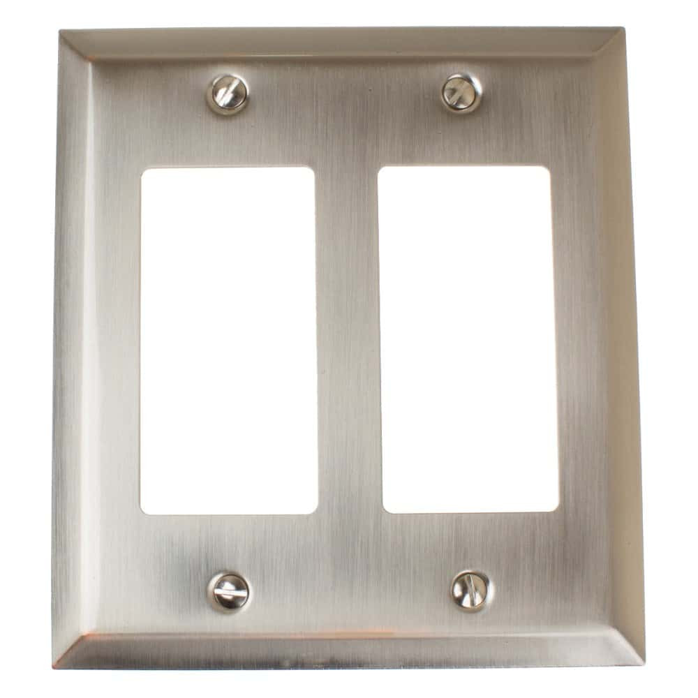 Rocker Light Switch >> Double Light Switch Rocker Beveled Edge 2 Gang Wall Plate Cover 200rr Orb