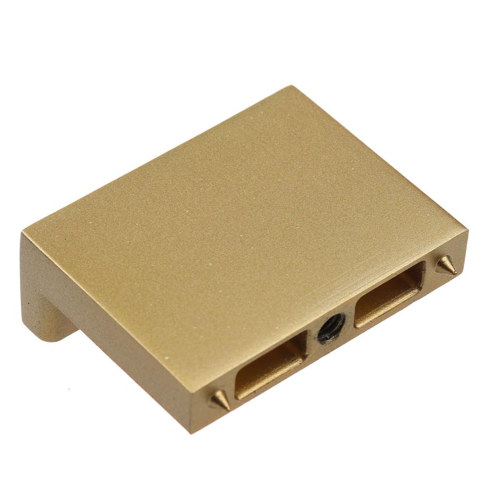 1-1/2 in. Modern Rectangular Dresser Drawer Finger Pull Knob, Satin Gold - 4793-SG