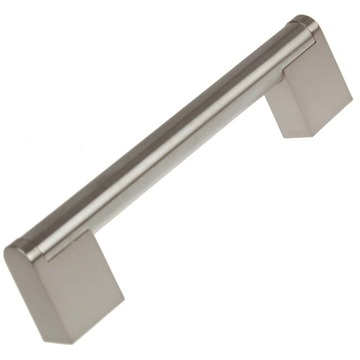 4-3/8 Inch Center to Center Satin Nickel Round Cross Bar Pull Cabinet Hardware Handle - 2008-SN