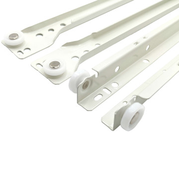 22 in. Bottom Mount Euro Self-Close Drawer Slide Set - 1 Pair