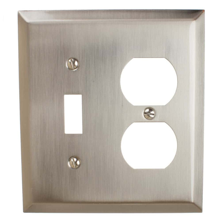 Toggle Light Switch And Duplex Outlet 2 Gang Combination Beveled Edge Wall Plate Cover 200td Gliderite Hardware