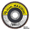 Pearl Abrasive T-27 Aluminum Oxide Premium Maxidisc Flapdisc 10ct Case A40, A60, A80, A100 or A120 Grit 4 1/2 x 5/8-11 MAX4540H, MAX4560H, MAX4580H, MAX4510H, MAX4512H