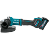 """Makita 40V max XGT® Brushless Cordless 7""""/9"""" Paddle Switch Angle Grinder Kit, with Electric Brake, AWS® Capable (4.0Ah)"""