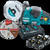 "Makita 36V (18V X2) LXT® Li-Ion Brushless Cordless Power Cutter 9"" with 4 Batteries (5.0 Ah)"