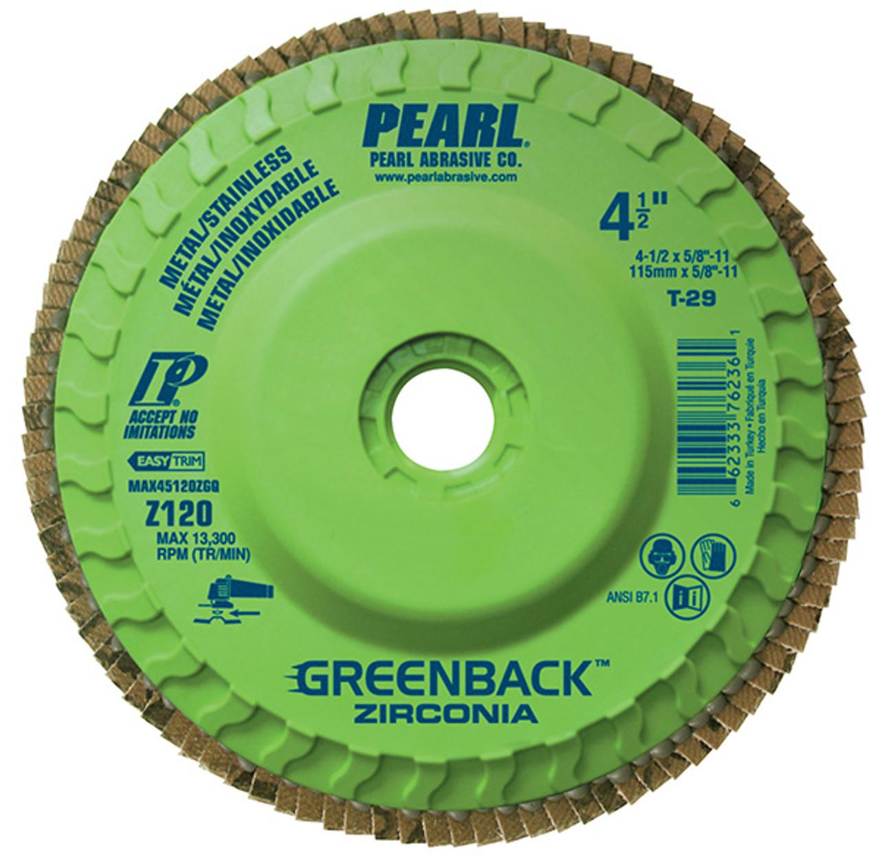Z60 GRIT Pearl FATMAX 4-1//2 x 7//8 T29 Flap Disc Pack of 10