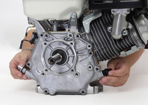 Honda GX340- Dual oil drains and fill
