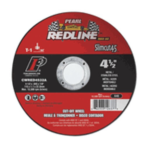 Pearl Abrasive Redline Super Premium Slimcut40 MAX-A.O. Type 1 Cut Off Wheels 6 x .040 x 7/8 25 ct Case CWRED0632A