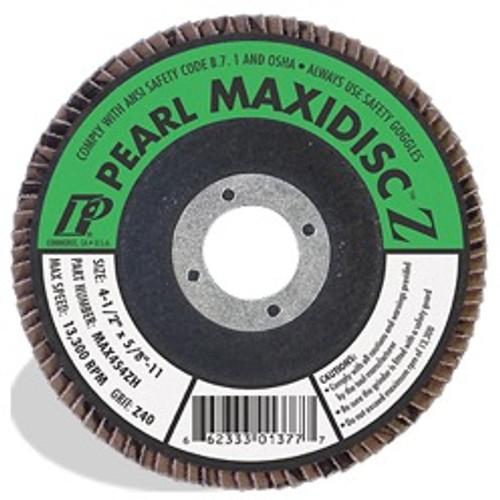 Pearl Abrasive T-27 Zirconia Silver Line Maxidisc 7 x 5/8- 11 10 ct  Box MAX704ZH, MAX706ZH, MAX708ZH
