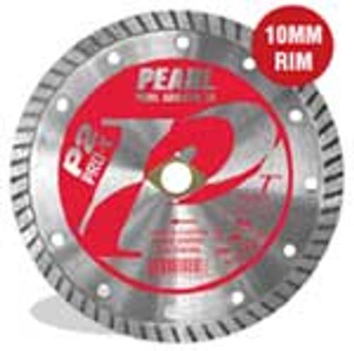 Pearl Abrasive P2 Pro-V Flat Core Diamond Turbo Blade 10 x .095 x 7/8 DIA- 5/8 Adapter PV010T