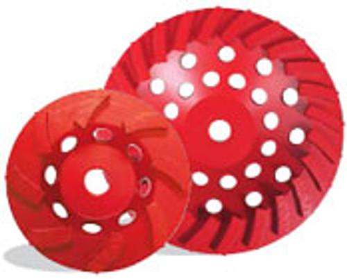 Pearl Abrasive P2 Pro-V Swirl Segmented Cup Wheel for Concrete and Masonry 7 x 5/8-11 12 Segments PV07CSEH