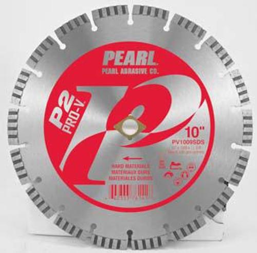 Pearl Abrasive P2 Pro-V Segmented Diamond Blade for Hard Materials 10 x .095 x DIA- 5/8 Adapter PV1009SDS