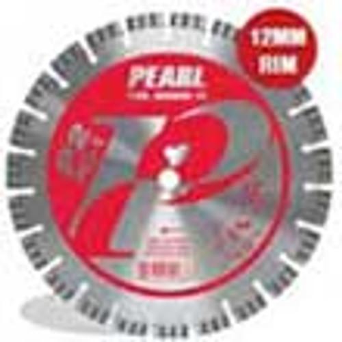 Pearl Abrasive P2 Pro-V Segmented Diamond Blade for Hard Materials 12 x .125 x 20mm PV1212SDS2