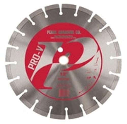 Pearl Abrasive P2 Pro-V Segmented Diamond Blade for Concrete and Masonry 12 x .125 x 1, 20mm PV1212XL