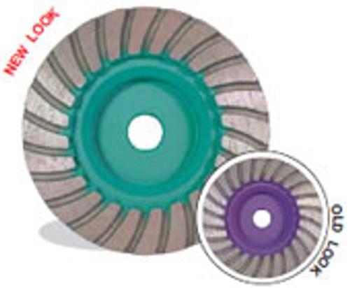 Pearl Abrasive P4 Turbo Cup Wheel for Granite 4 x 5/8-11 Coarse PW4CHPRF