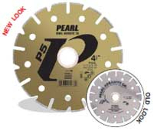 Pearl Abrasive P5 Electroplated Diamond Blade for Marble 7 x 7/8, DIA- 5/8 Adapter PY007