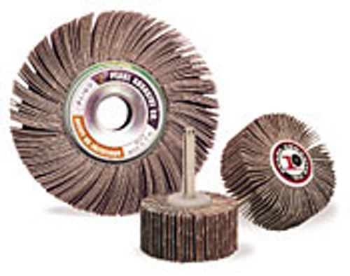 Pearl Abrasive Aluminum Oxide Flap Wheel 10ct Case A40, A60, A80, A120 or A180 Grit 2 x 1 FL21040, FL21060, FL21080, FL210120, FL210180