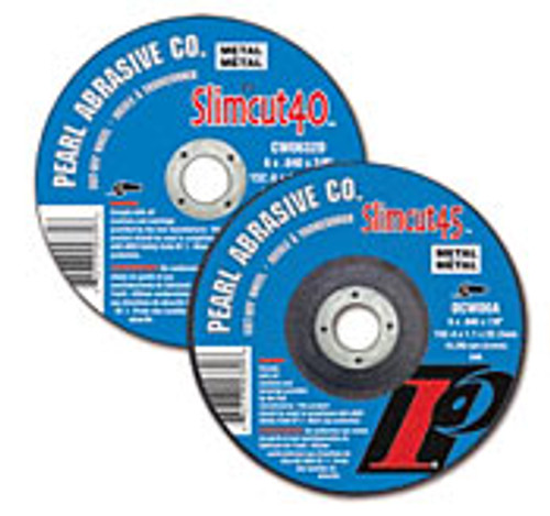 Pearl Abrasive T-1 Aluminum Oxide Slimcut 40 Thin Cut Off Wheel 25ct Case A46 Grit 6 x .040 x 5/8 CW0632B