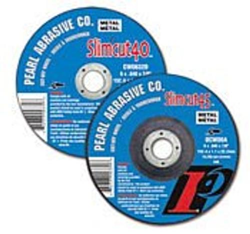 Pearl Abrasive T-1 Aluminum Oxide Slimcut 40 Thin Cut Off Wheel 25ct Case A46 Grit 6 x .040 x 1/2 CW0632C