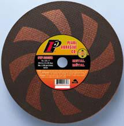 Pearl Abrasive T-1 SRT Contaminant Free Hi-Speed Cut Off Wheel for Gas Powered Saws 10ct Case SRT36 Grit 12 x 1/8 x 1 CW1220SR