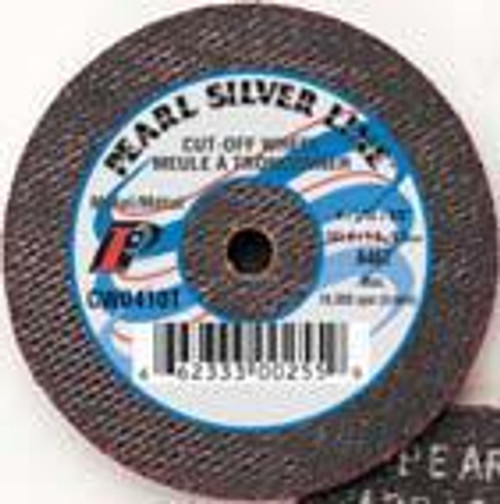 Pearl Abrasive T-1 Aluminum Oxide Silver Line Small Diameter Cut Off Wheel 25ct Case A46T Grit 4 1/2 x 1/16 x 7/8 CW4510T