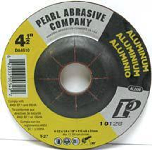 Pearl Abrasive T-27 D. A. Series Aluminum Depressed Center Grinding Wheel AL24M Grit 25ct Case 5 x 1/4 x 7/8 DA5010