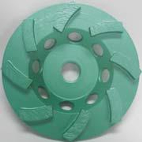 Pearl Abrasive P4 Swirl Segmented Cup Wheel for Concrete and Masonry 4 x 5/8-11 8 Segments DC4CSH