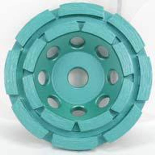 Pearl Abrasive P4 Cup Wheel for Concrete and Masonry 5 x 5/8-11 Double Row DC5CDH