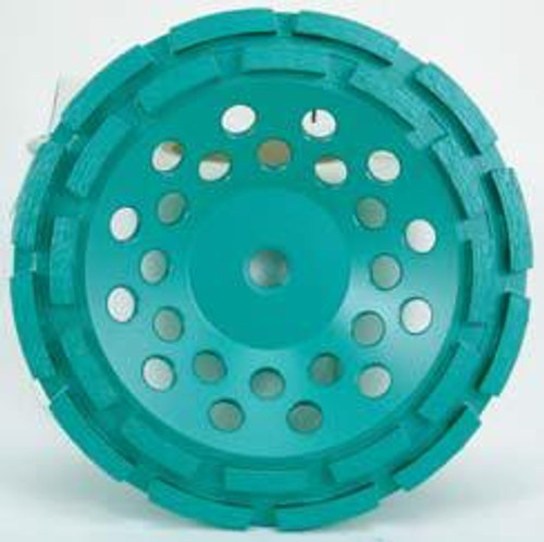 Pearl Abrasive P4 Cup Wheel for Concrete and Masonry 7 x 5/8-11 Double Row DC7CDH