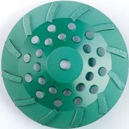 Pearl Abrasive P4 Swirl Segmented Cup Wheel for Concrete and Masonry 7 x 5/8-11 12 Segments DC7CSH