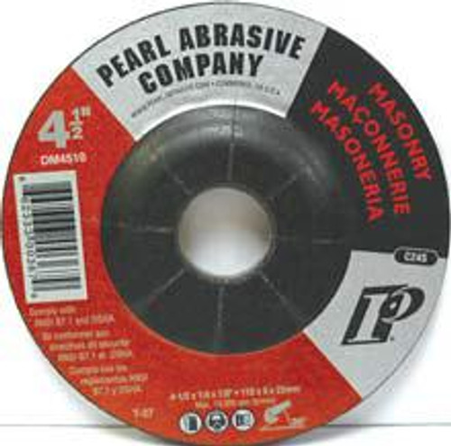 Pearl Abrasive T-27 Silicon Carbide Premium Depressed Center Grinding Wheel 25ct Case C24S Grit 4 1/2 x 1/4 x 7/8 DM4510