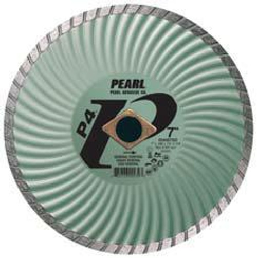Pearl Abrasive P4 Waved Core Diamond Turbo Blade 5 x .080 x 7/8- 5/8 Adapter DIA005SD