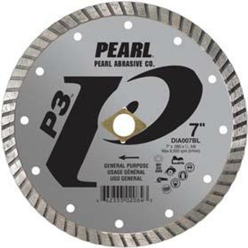 Pearl Abrasive P3 Pro-V Flat Core Diamond Turbo Blade 8 x .080 x DIA- 5/8 Adapter DIA008BL