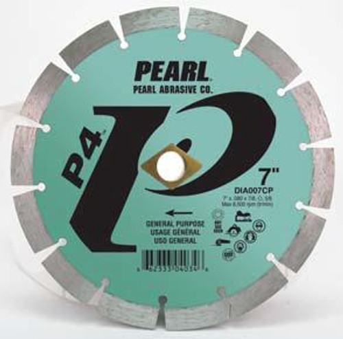 Pearl Abrasive P4 Pro-V Segmented Diamond Blade 8 x .080 x DIA- 5/8 Adapter DIA008CP