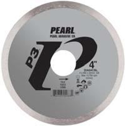 Pearl Abrasive P3 Diamond Blade for Tile 4 x .060 x 20mm- 5/8 Adapter DIA04CBL