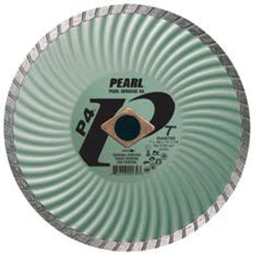 Pearl Abrasive P4 Waved Core Diamond Turbo Blade 4 x .070 x 7/8- 5/8 Adapter DIA04SDA