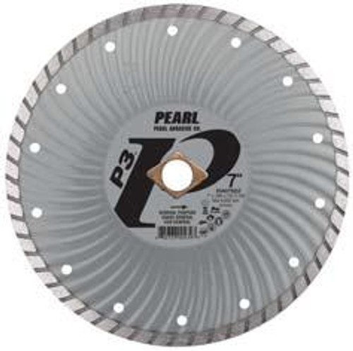 Pearl Abrasive P3 Waved Core Diamond Turbo Blade 5 x .080 x 7/8- 5/8 Adapter DIA05SDZ