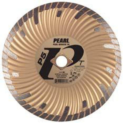 Pearl Abrasive P5 Waved Core Diamond Turbo Blade 7 x .080 x 7/8 DIA- 5/8 Adapter DIA07SDG