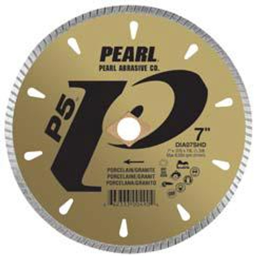 Pearl Abrasive P5 Diamond Blade for Porcelain and Granite 7 x .070 x 7/8, DIA- 5/8 Adapter DIA07SHD