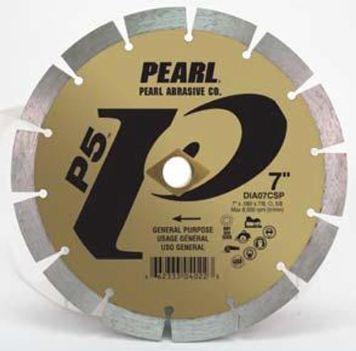 Pearl Abrasive P5 Pro-V Segmented Diamond Blade 8 x .080 x DIA- 5/8 Adapter DIA08CSP