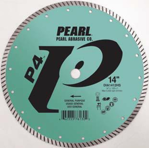 Pearl Abrasive P4 Pro-V High Speed Diamond Turbo Blade 12 x .125 x 1, 20mm DIA1212HS