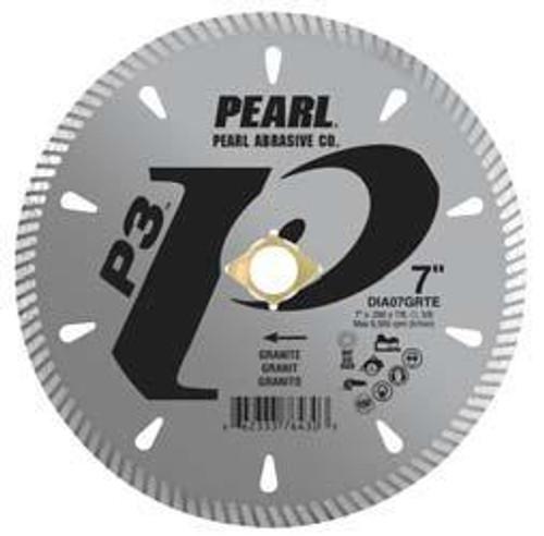 Pearl Abrasive P3 Diamond Blade for Granite 4 1/2 x .090 x 7/8, 20mm, 5/8, 4 holes DIA45GRTE