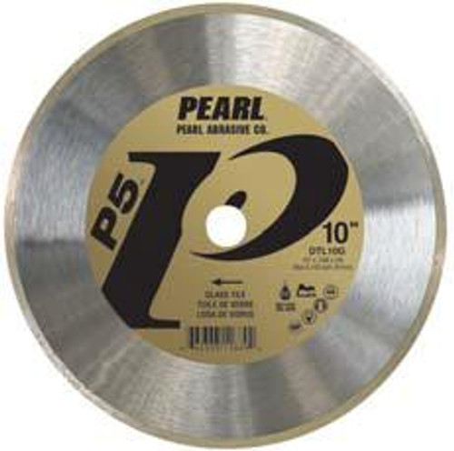Pearl Abrasive P5 Diamond Blade for Glass Tile 10 x .048 x 5/8 DTL10G