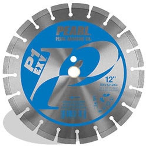 Pearl Abrasive PV1 EXV Segmented Diamond Blade for Concrete and Masonry 12 x .125 x 1, 20mm EXV1212XL