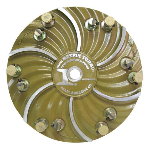 "Pearl Abrasive Hexpin Floor Preparation System 15"" Hexplate w/12 Diamond EZ Pads  HEX1712EZ"