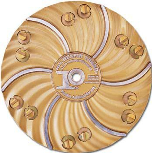 Pearl Abrasive Hexpin Floor Preparation System 15 inch plate w/12 Carbide #3 Cutter Pins HEX17CBD3