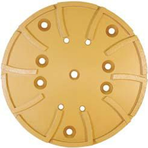 Pearl Abrasive Hexpin Floor Preparation System 10 inch Surface Grinding Plate 10 x 3/4 Arbor, 4 holes, 20 segments HEX1GHP20